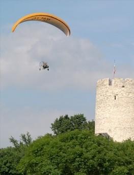 Lot motoparalotnią dla dwóch osób  Kazimierz Dolny