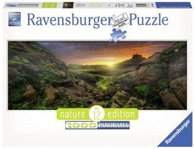 Ravensburger Polska Puzzle 1000 elementów Panorama Słonce nad Islandią