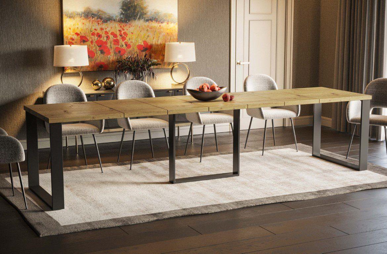 Stół BORYS MAX 130(250)x85 rozkładany w stylu loft  KUP TERAZ - OTRZYMAJ RABAT