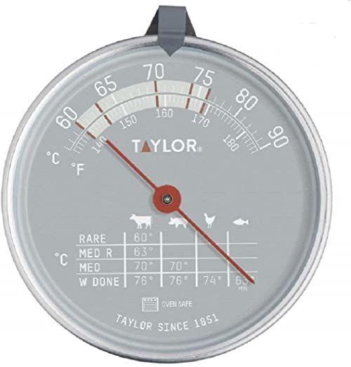 Taylor TYPTHMEAT Pro w piekarniku termometr do mięsa sonda z wykresem uroczym, stal nierdzewna