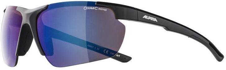 ALPINA okulary sportowe DEFFY HR BLUE MIRROR S3 black A8657332,4003692301314
