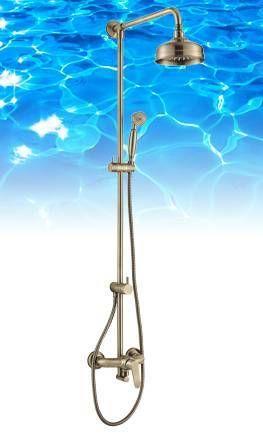 OMNIRES System prysznicowy natynkowy, brąz antyczny Art deco AD5144BR
