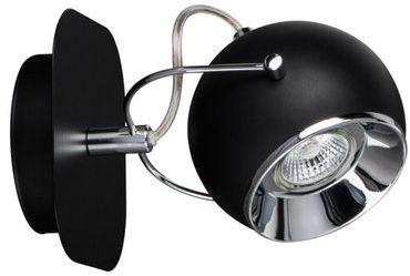 SPOTLIGHT kinkiet BALL czarny z 1 punktem świetlnym 5109184
