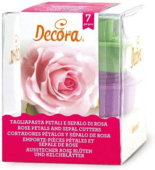 0803025 DECORA zestaw foremek do wykrawania róż kwiaty i płatków kwadratowych 7-częściowy