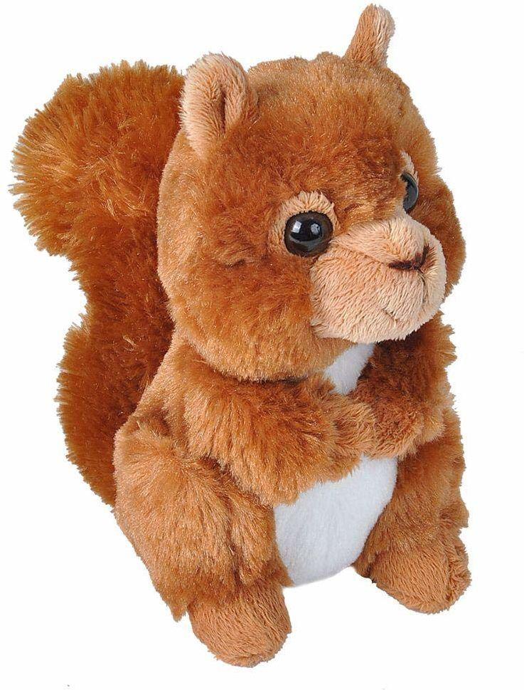 Wild Republic Hug ''ems pluszowe zwierzątko, przytulanka czerwona wiewiórka 18 cm