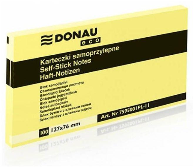 Karteczki samoprzylepne DONAU Eco (76 mm x 127 mm) (DP 7595)