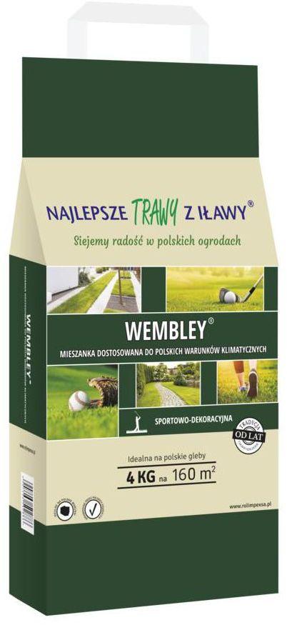 Nasiona traw na tereny sportowe i rekreacyjne WEMBLEY 4 kg NAJLEPSZE TRAWY Z IŁAWY
