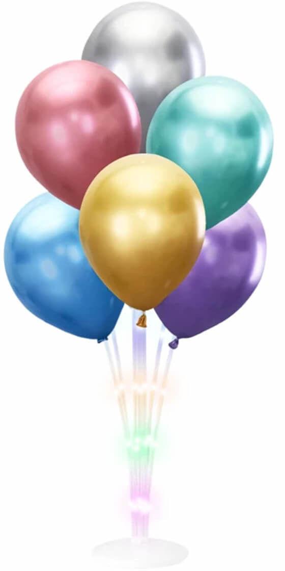 Stojak LED do balonów - 72 cm - 1 szt.