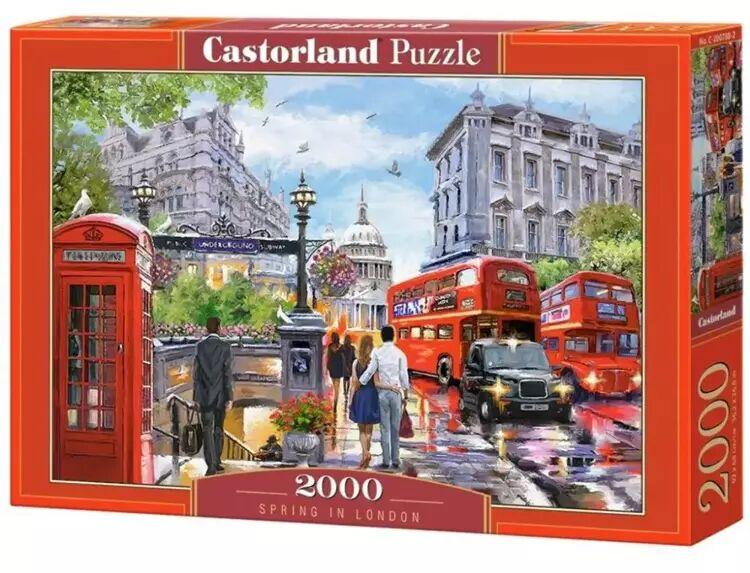 Puzzle 2000 Spring in London CASTOR - Castorland