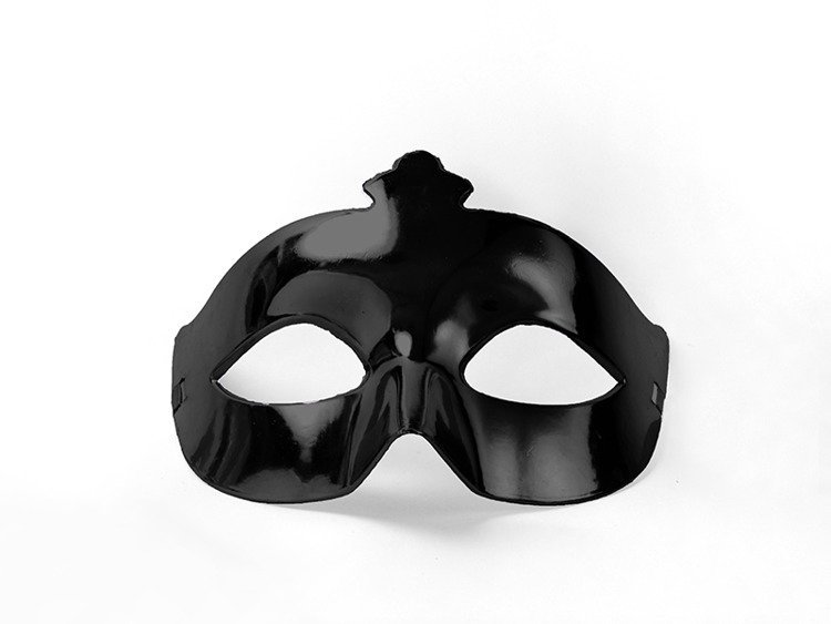Maska karnawałowa czarna 1 szt MAS1-010