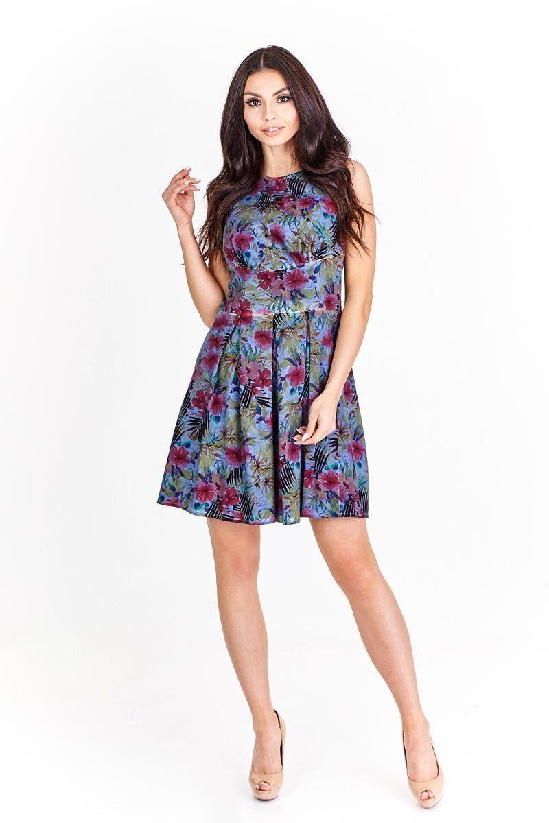 Sukienka FSU608 JEANSOWY wzór F