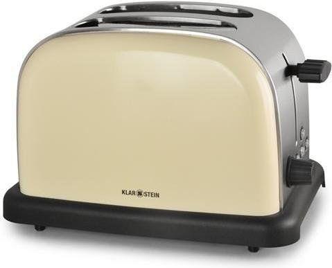 Klarstein BT-318 toster 2-szczelinowy stal nierdzewna 1000W retro kremowy