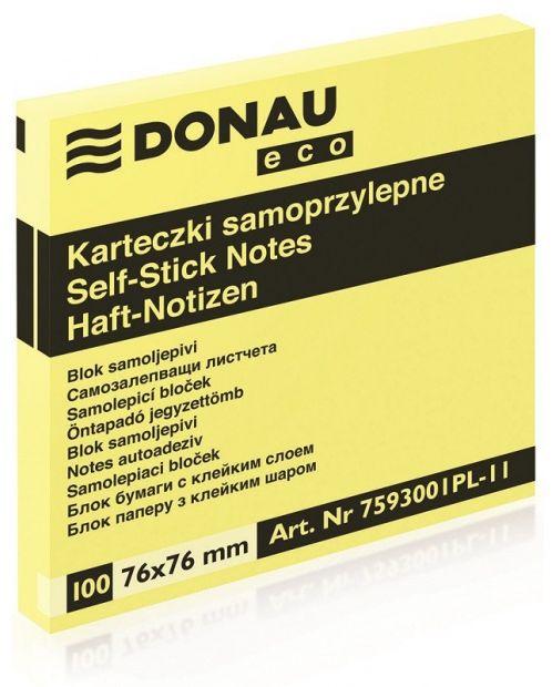 Karteczki samoprzylepne DONAU Eco (76 mm x 76 mm) (DP 7593)