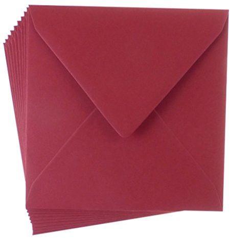 Enveloprint kwadratowa kartka, Boże Narodzenie czerwony, 10 szt.
