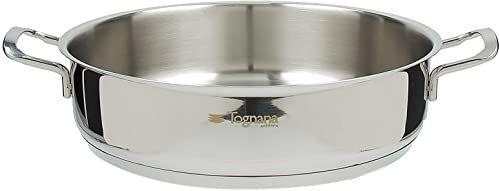 Tognana Vanitosa 24 cm rondel z 2 uchwytami, stal nierdzewna, srebrny
