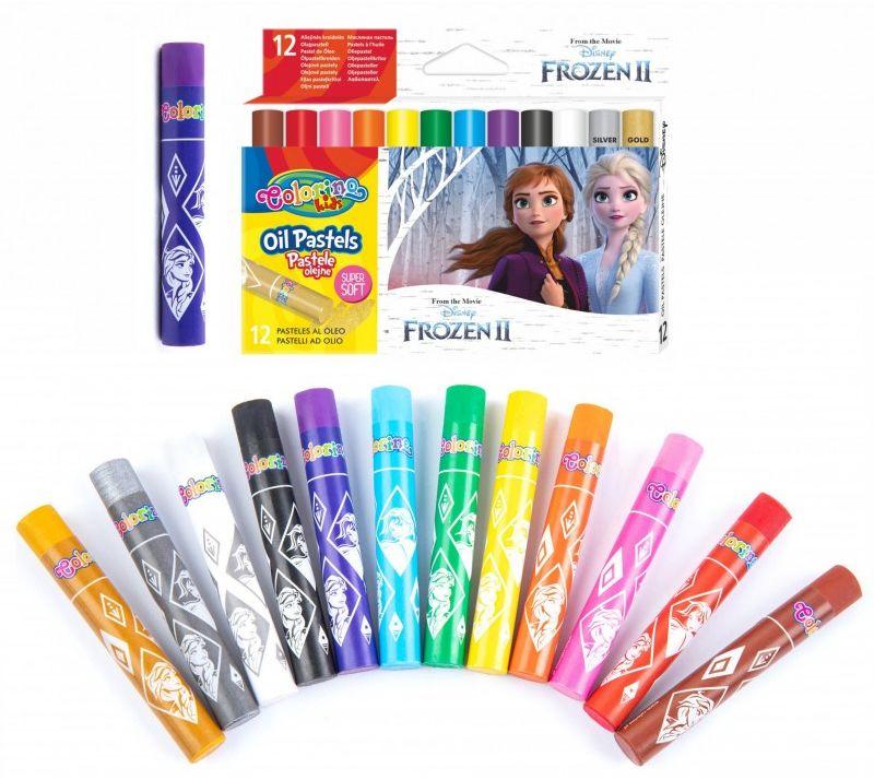 Pastele olejne 12 kolorów Frozen II Colorino 6487-PASTELE-O-FROZEN
