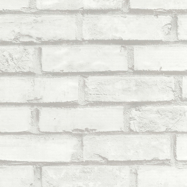 Venilia Folia samoprzylepna mur, folia imitująca cegły, folia dekoracyjna, folia do mebli, tapeta, folia samoprzylepna, PCW, bez ftalanów, biała, 67,5 cm x 1,5 m, 54728, 67,5 cm x 1,5 m