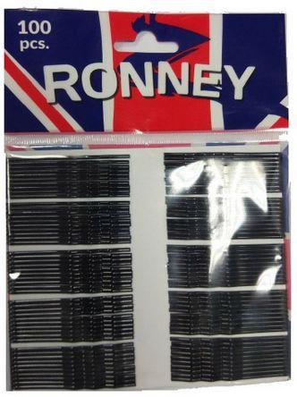 Ronney karbowane wsuwki do włosów 100 sztuk czarne