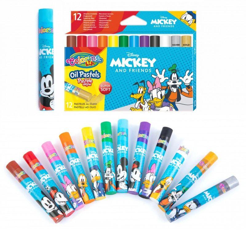 Pastele olejne 12 kolorów Mickey i przyjaciele Colorino 6488-PASTELE-O-MICKEY