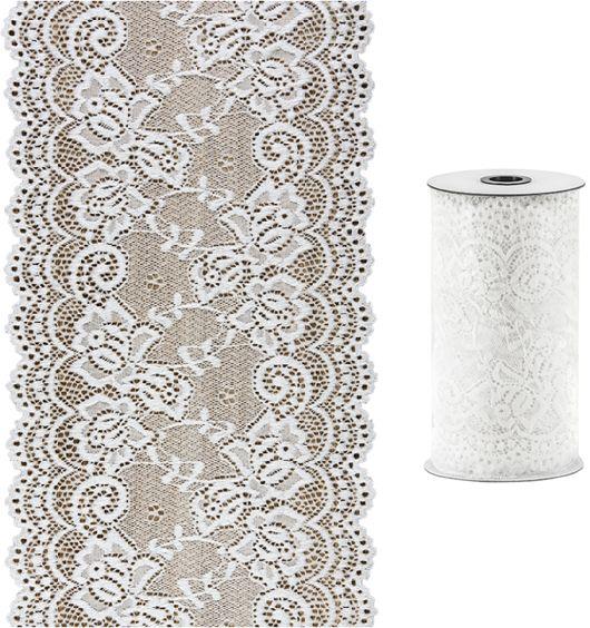 Koronka dekoracyjna na rolce złamana biel 0,15 x 9m KOR15-008Z