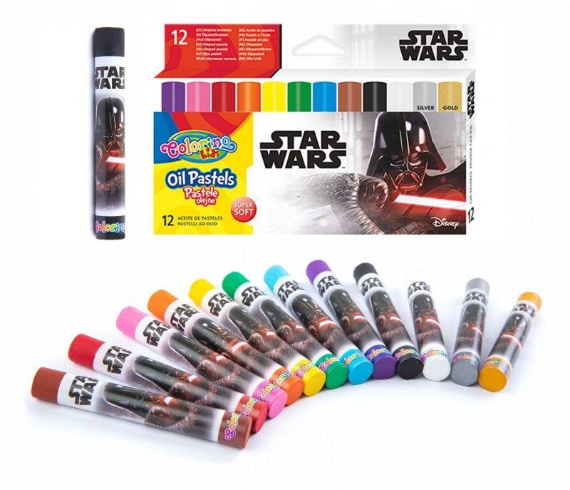 Pastele olejne 12 kolorów Star Wars Colorino 6489-PASTELE-O-STARWARS