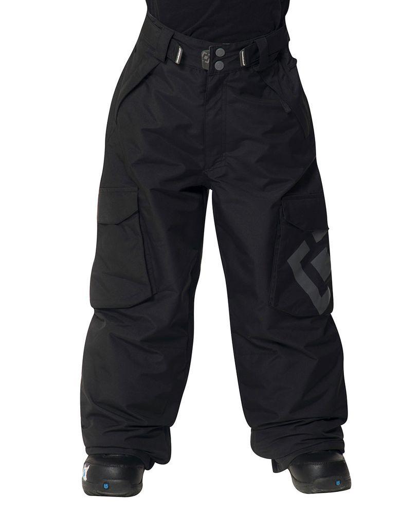 zimowe spodnie dziecięce HORSEFEATHERS GRUIS KIDS PANTS (black) F13