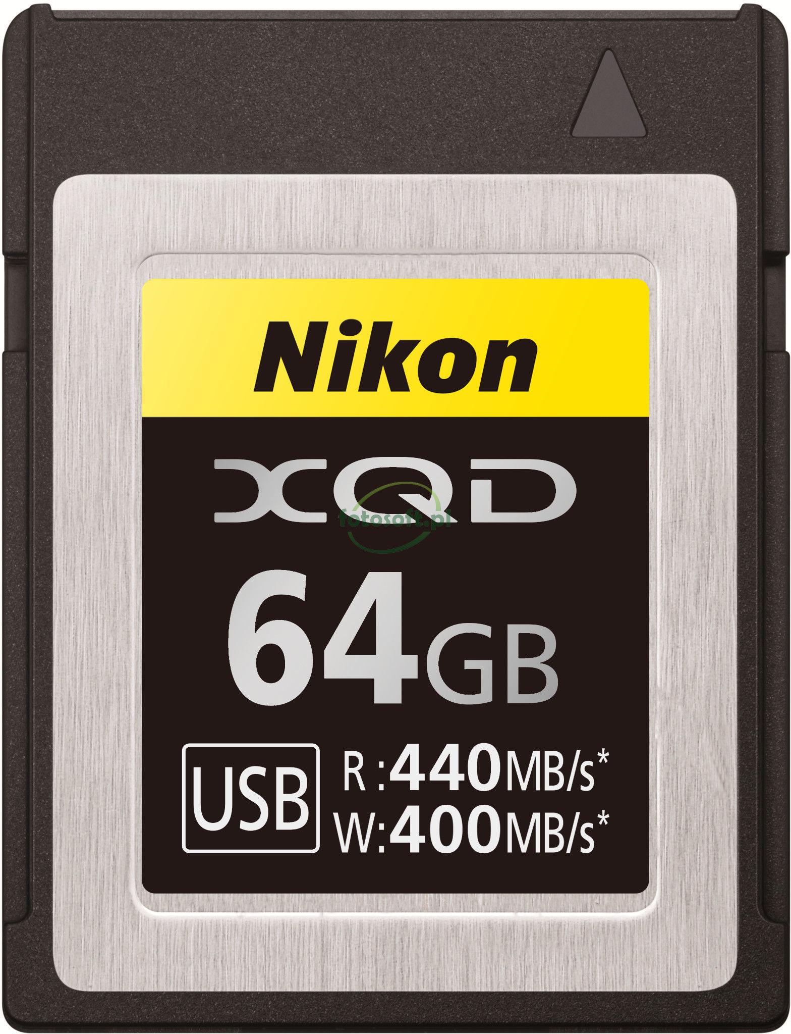 KARTA PAMIĘCI NIKON XQD 64GB 440MB/s / WYSYŁKA GRATIS / RATY 0% / TEL. 500 005 235