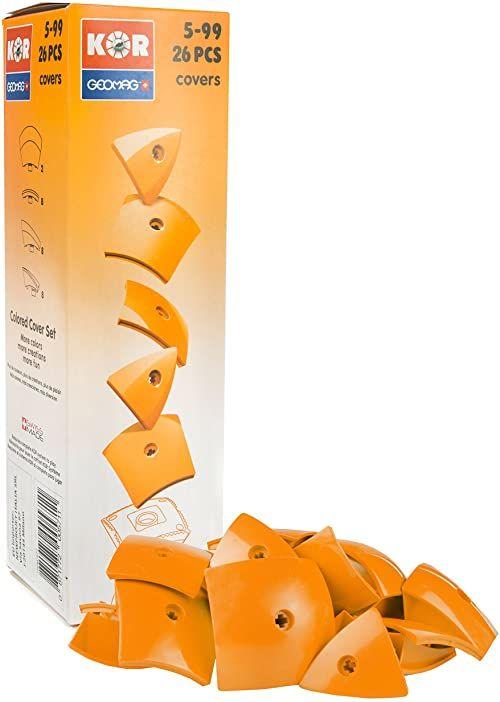 """Geomag 571 zestaw uzupełniający KOR 2.0 Pantone 151"""" zabawka konstrukcyjna, 26-częściowy, jasny pomarańczowy"""