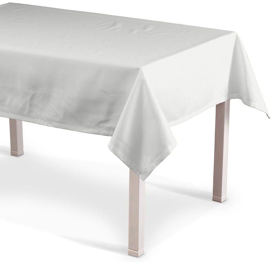 Obrus prostokątny, śmietankowa biel, 130  130 cm, Loneta