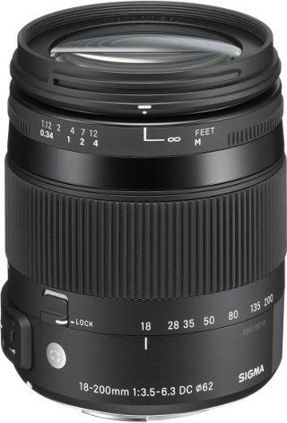Sigma 18-200mm F3.5-6.3 DG MACRO OS HSM Contemporary ( Canon )