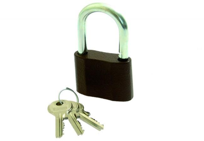 Kłódka LOB żeliwna zasuwkowa KS 40 mały klucz 3 szt.