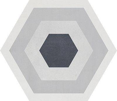 STARKHEX Gris Decor MIX 25,8x29 płytki heksagonalne