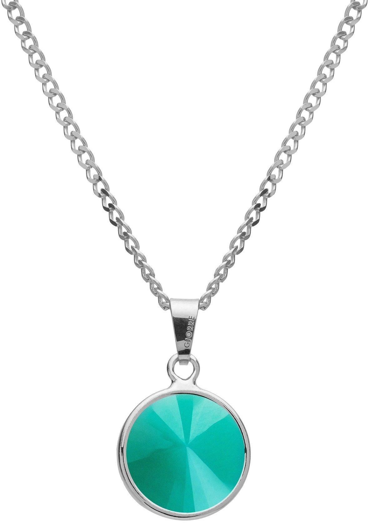 Srebrny naszyjnik z naturalnym kamieniem - jadeit, srebro 925 : Długość (cm) - 40 + 5 , Kamienie naturalne - kolor - jadeit zielony jasny, Srebro - kolor pokrycia - Pokrycie platyną