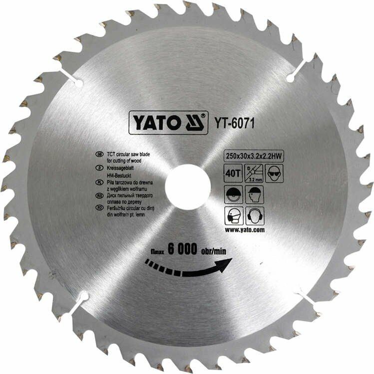 TARCZA WIDIOWA 250X40TX30 MM Yato YT-6071 - ZYSKAJ RABAT 30 ZŁ