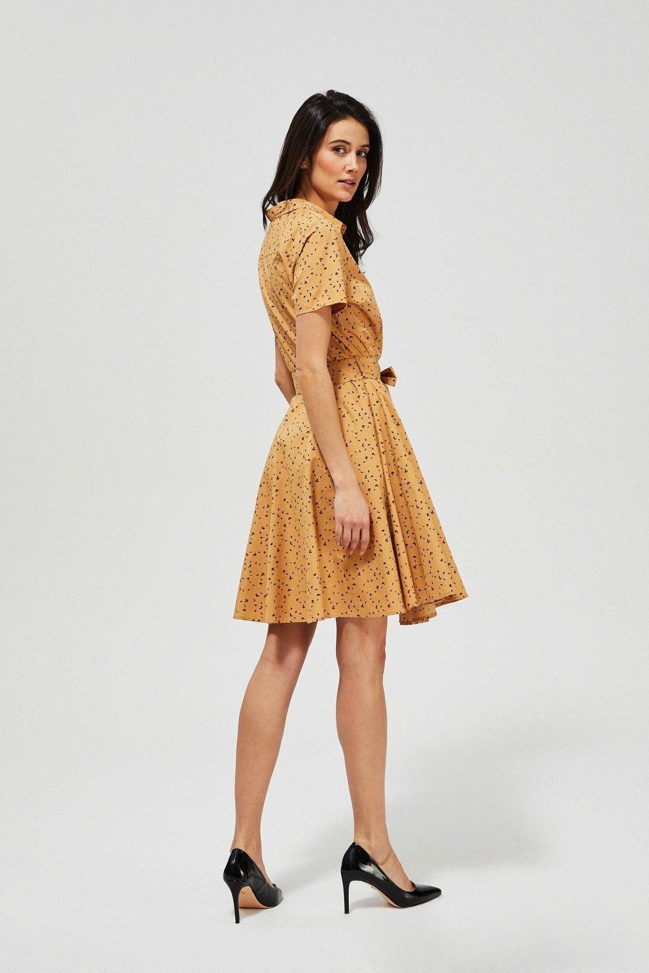 Bawełniana sukienka z wiązaniem