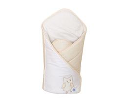 MAMO-TATO Rożek niemowlęcy haftowany Sówki uszatki biszkoptowe