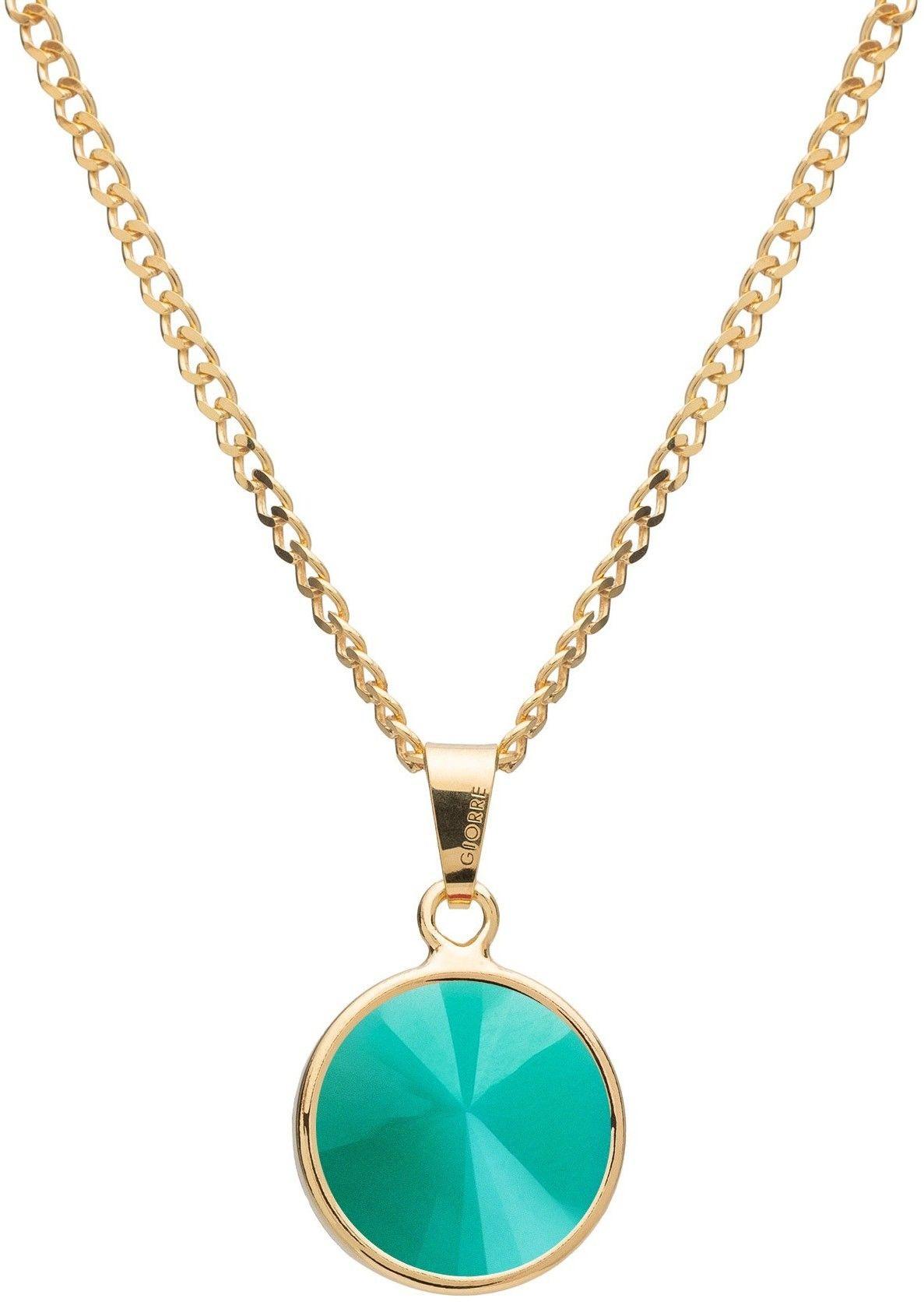 Srebrny naszyjnik z naturalnym kamieniem - jadeit, srebro 925 : Długość (cm) - 40 + 5 , Kamienie naturalne - kolor - jadeit zielony jasny, Srebro - kolor pokrycia - Pokrycie żółtym 18K złotem