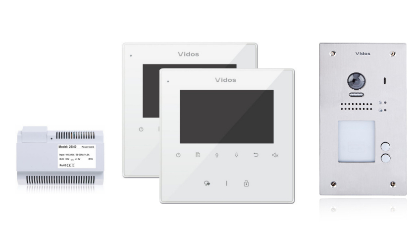 Wideodomofon 2-rodzinny vidos duo 2 x m1022w / s1202a - możliwość montażu - zadzwoń: 34 333 57 04 - 37 sklepów w całej polsce