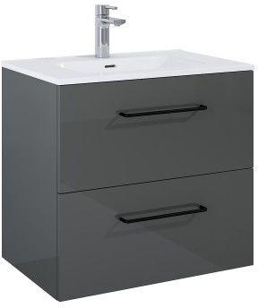 SZAFKA z umywalką FUTURIS 70x64x45,6cm 2S kolor ANTHRACITE
