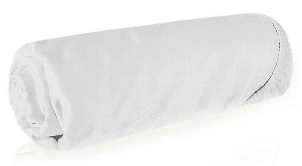 Prześcieradło satynowe z gumką 140x200 białe jednobarwne Nova 3 Eurofirany