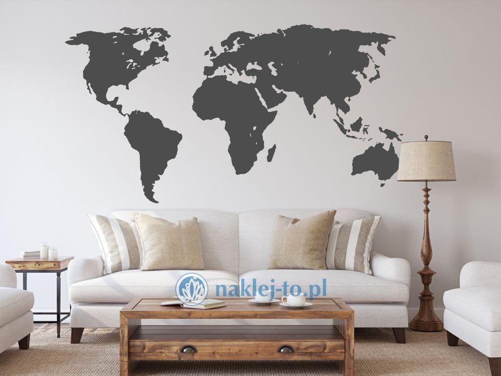 naklejka na ścianę Mapa świata 2 naklejka na ścianę