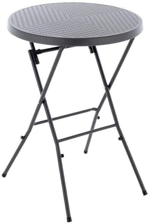 Składany wysoki stolik - szary