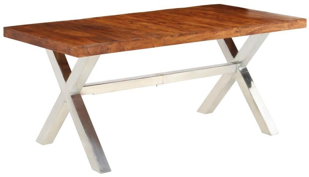 Brązowy stół z litego drewna  Midian