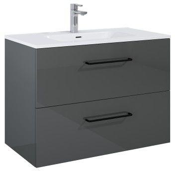 SZAFKA z umywalką FUTURIS 90x64x45,6cm 2S kolor ANTHRACITE