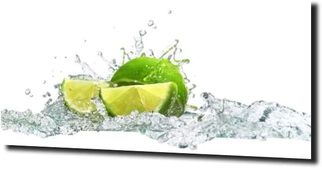 obraz na szkle Limonka woda kuchnia