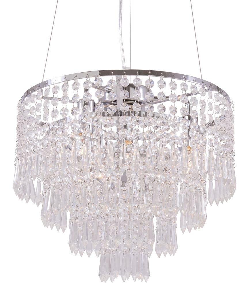 Lampa wisząca Porto P04892CH COSMOLight oprawa w stylu kryształowym