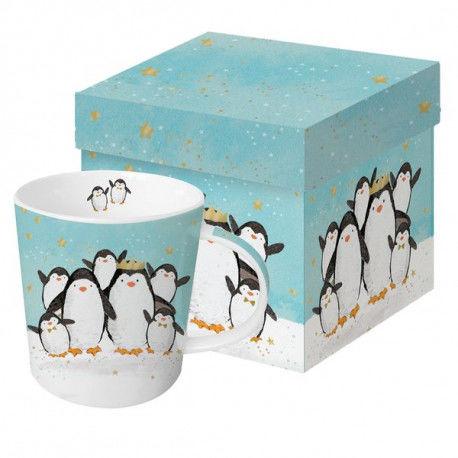 DUŻY KUBEK PORCELANOWY Rodzina pingwinów