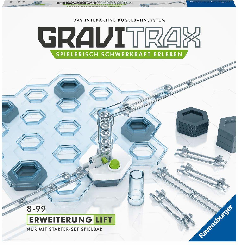 Ravensburger GraviTrax rozszerzenie Lift  idealne akcesorium do spektakularnych torów kulowych, zabawka konstrukcyjna dla dzieci w wieku od 8 lat.