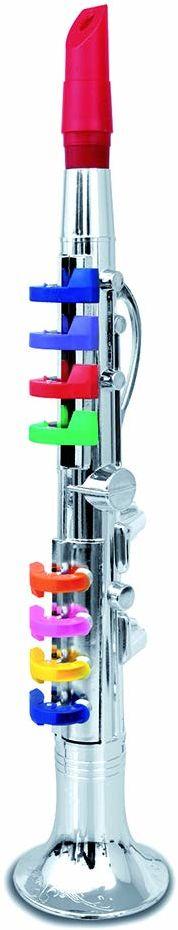Bontempi 32 4431 klarnet z 8 kolorowymi przyciskami/nutami. dł. 420 mm