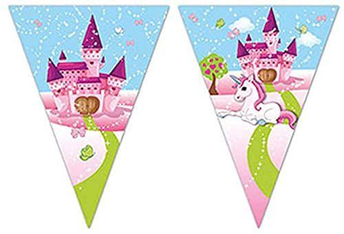 Procos 85830 - flaga z motywem jednorożca, wymiary 230 x 25 cm, jednorożec, dekoracja wisząca, urodziny dziecka